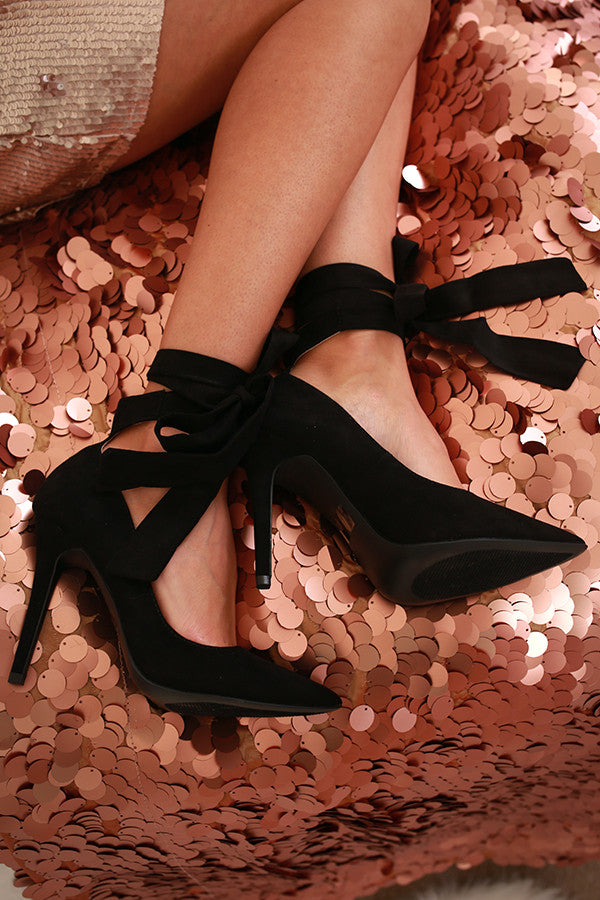 Take A Bow Heel in Black