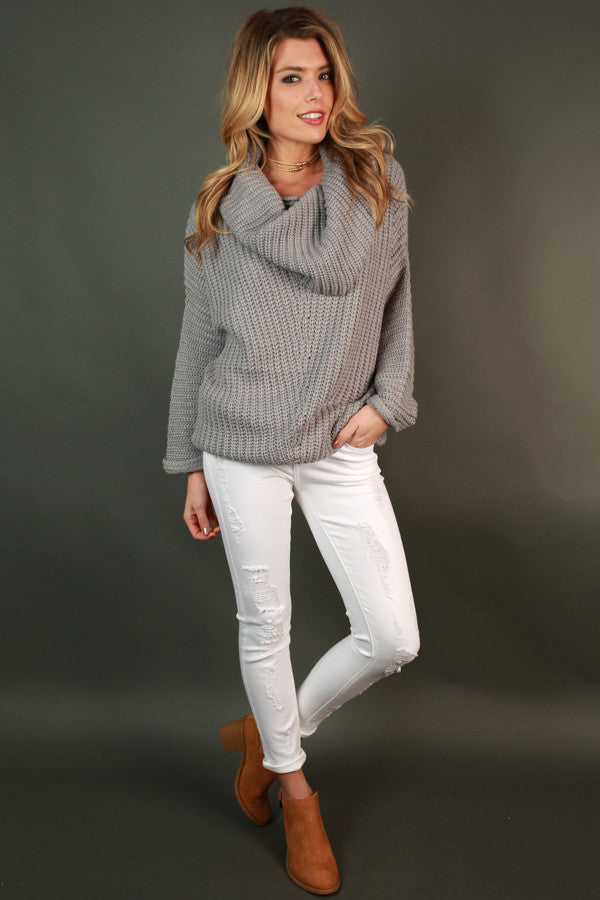Fireside Snuggles Sweater in Grey