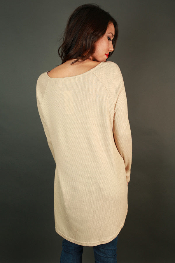 Casual Outing Thermal Tunic in Beige