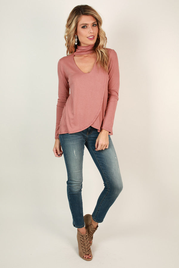 The Future Is Fashion Cut Out Top in Blush