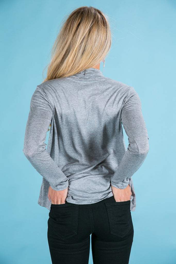 The Future Is Fashion Cut Out Top in Grey