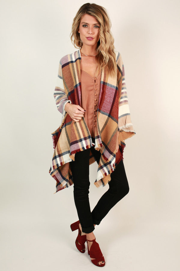 Take Me Wine Tasting Poncho