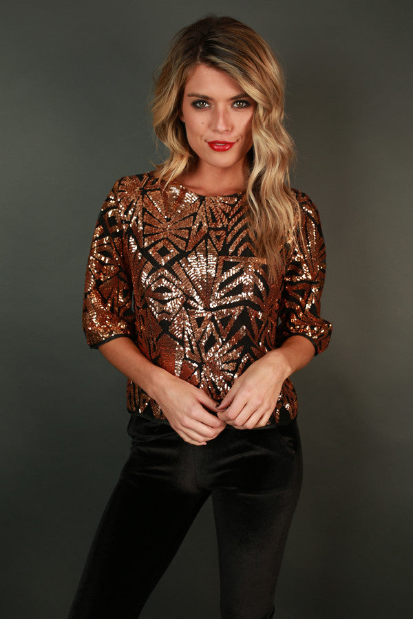 Sparkle and Sass Sequin Top
