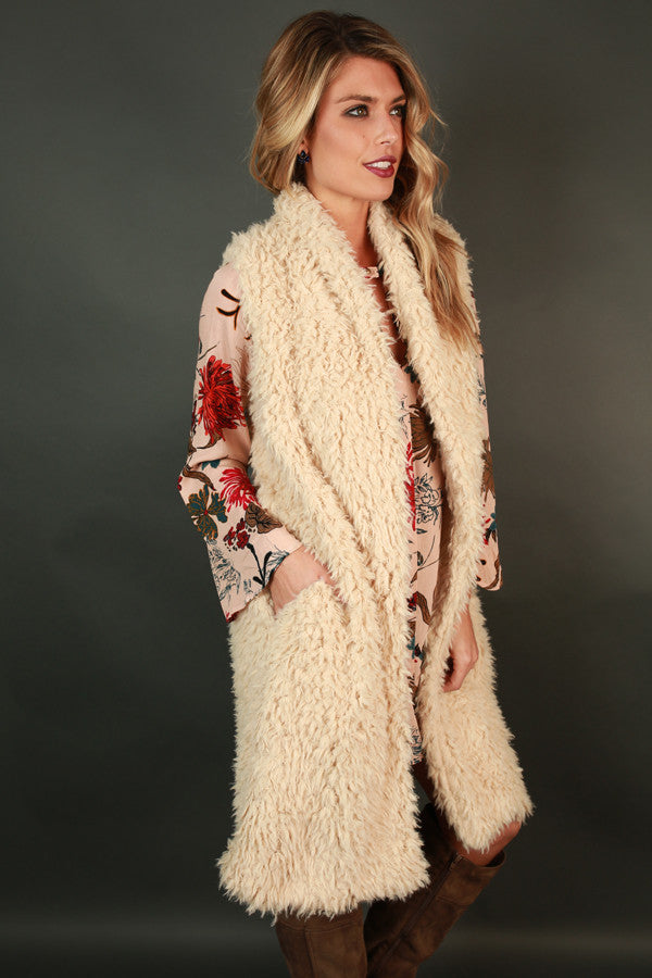 Cozy Luxe Faux Fur Cardigan