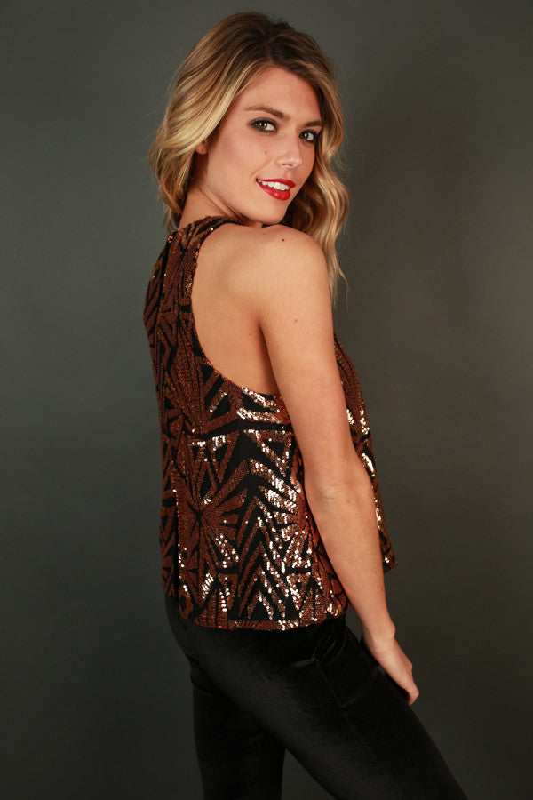 Sparkle and Sass Sequin Tank