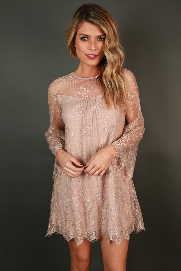 Lace Perfection Tunic Dress