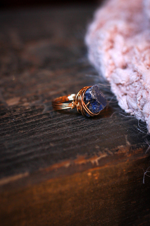 You're A Gem Quartz Stone Ring in Blue