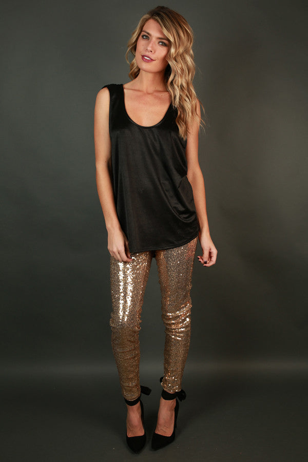 153be810 Sparks Fly High Waist Sequin Leggings in Gold • Impressions Online ...