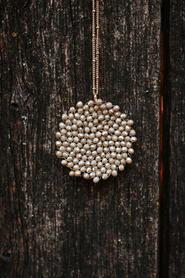 Sparkle For Days Necklace in Birch