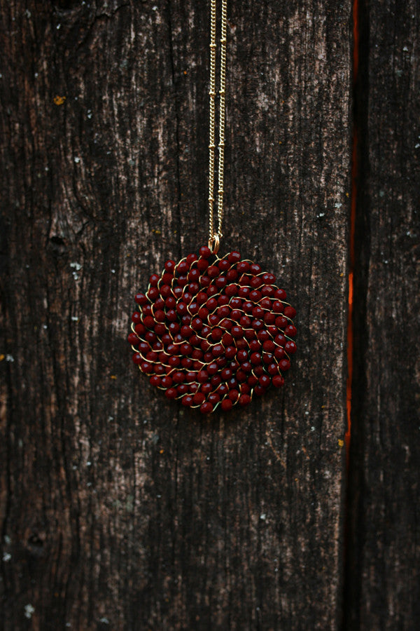 Sparkle For Days Necklace in Wine
