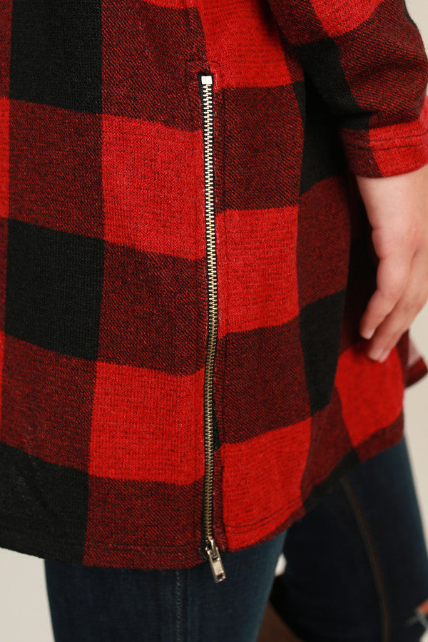 If It Makes You Happy Plaid Cardigan