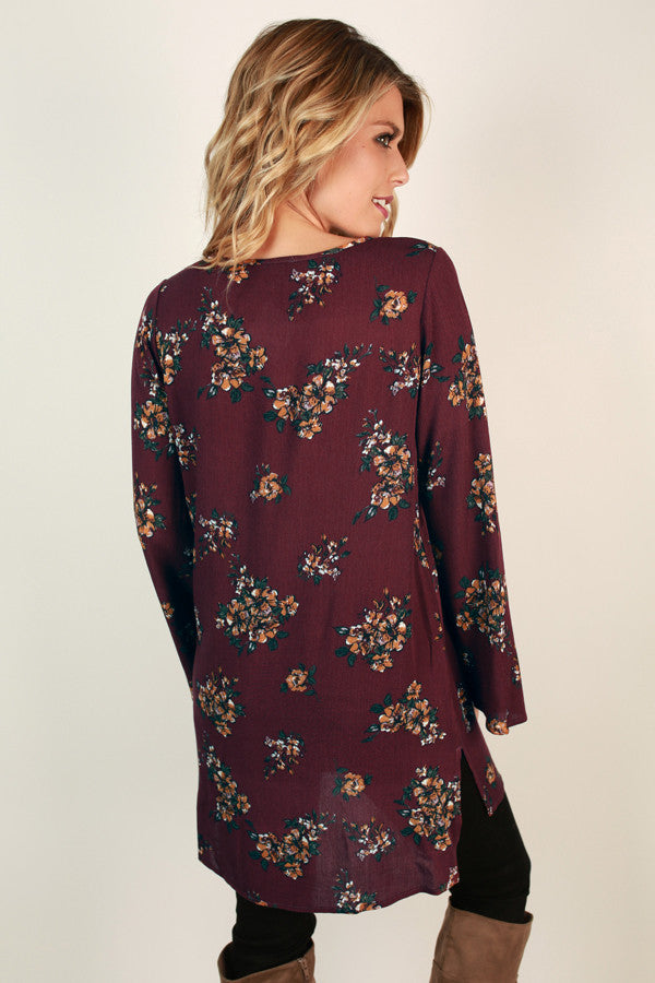 Weekend Outing Floral Tunic