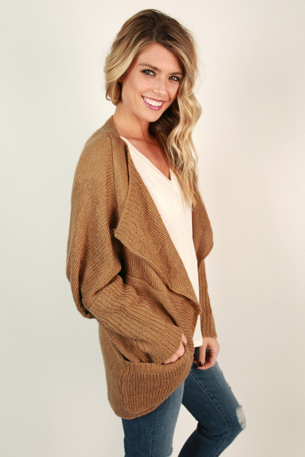 Fall Breeze Cardigan in Camel