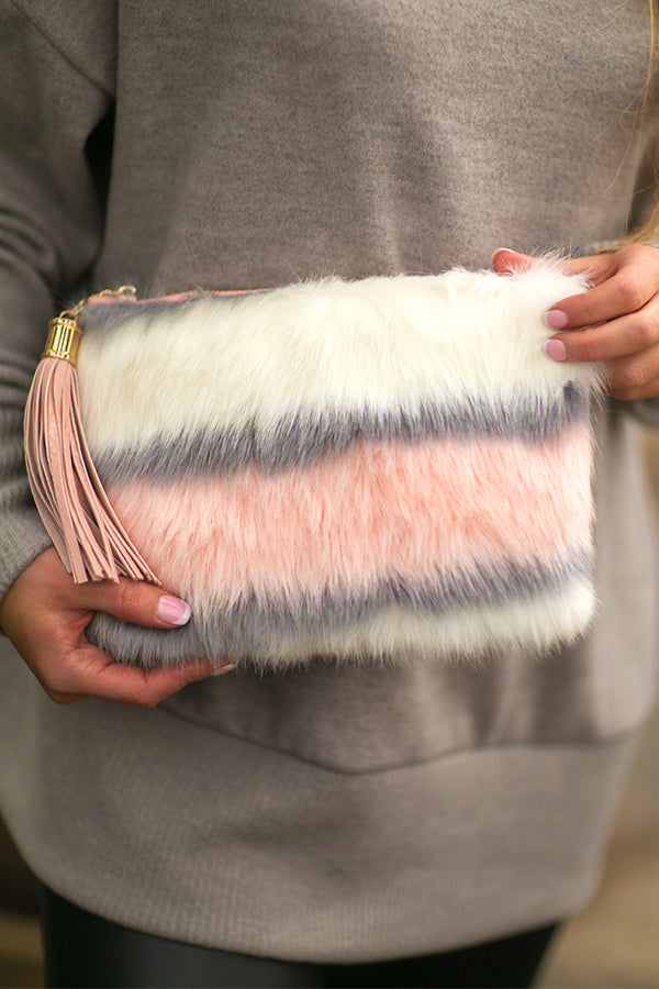 The As If Faux Fur Clutch