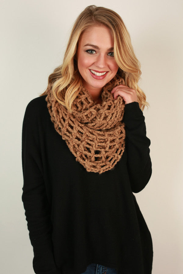 Forever and Always Infinity Scarf in Mocha
