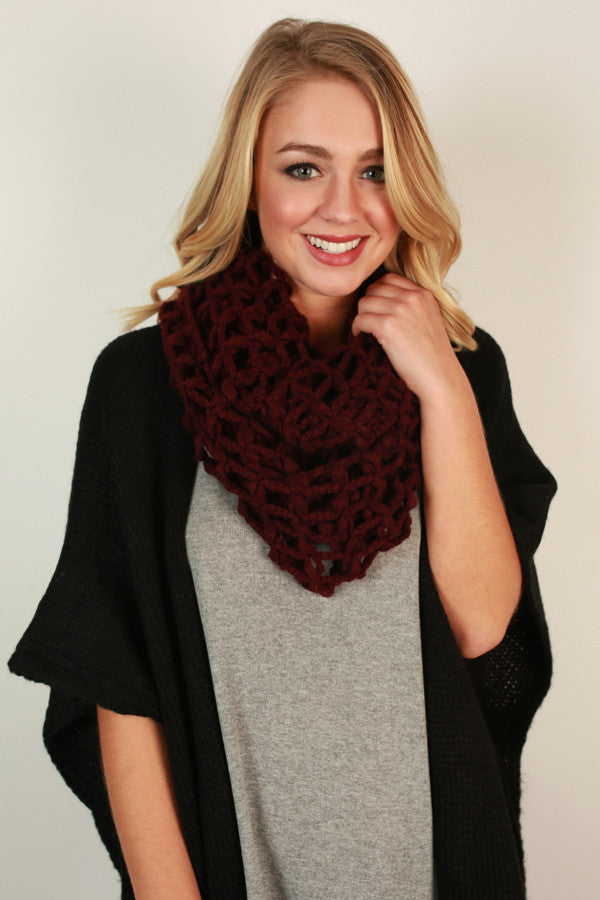 Forever and Always Infinity Scarf in Maroon