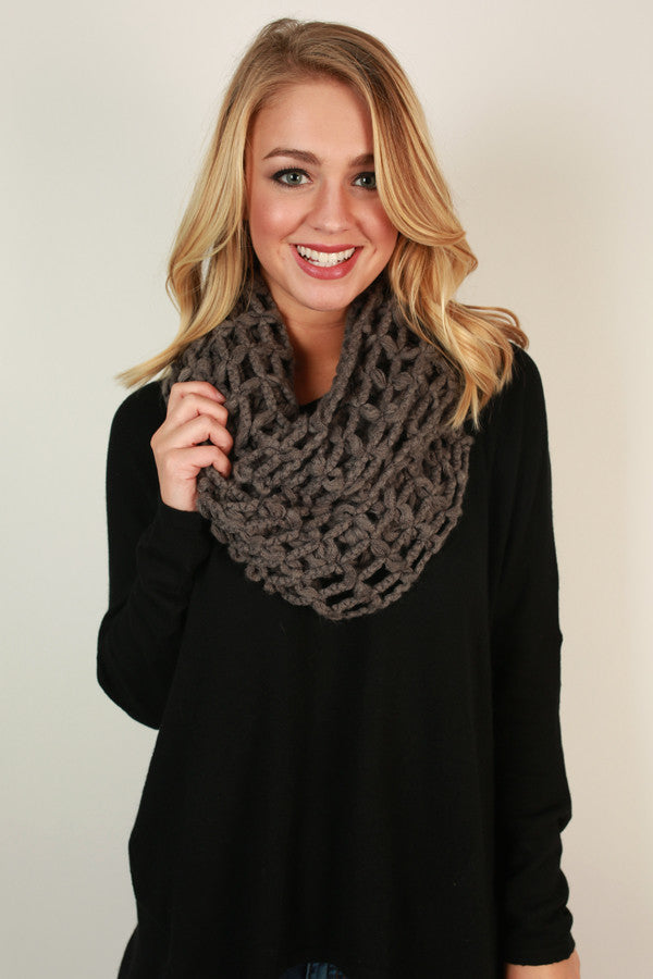 Forever and Always Infinity Scarf in Fog