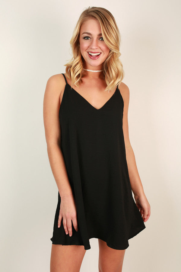 Keep It Chic Shift Dress in Black