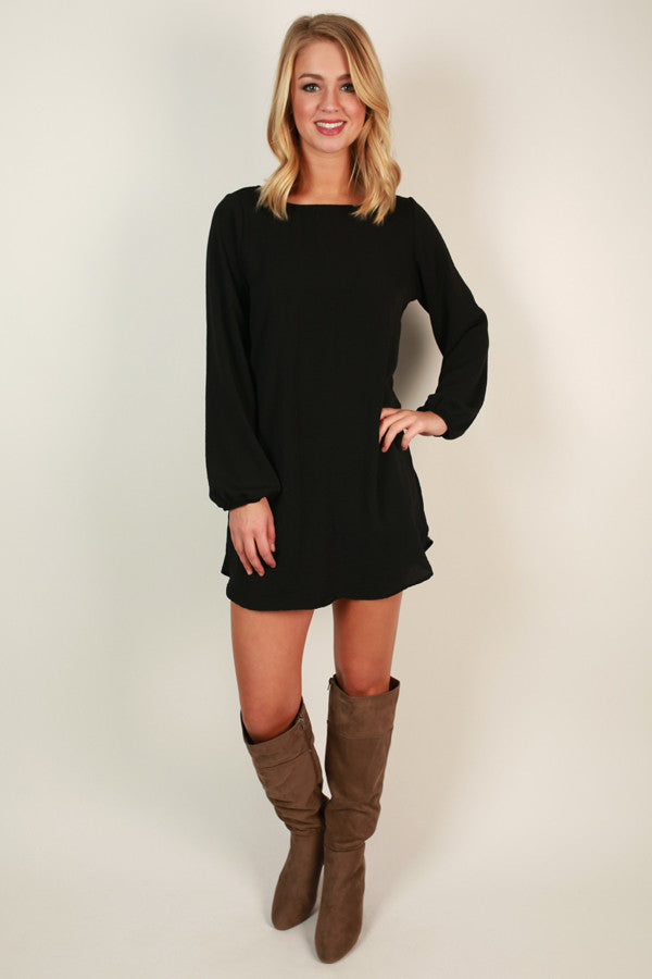 Simple Stunner Shift Dress in Black