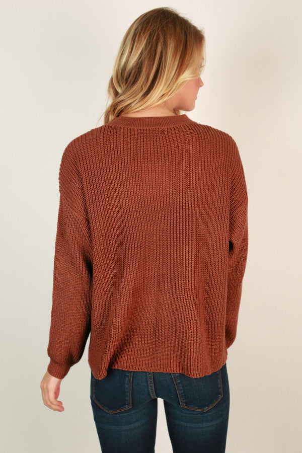 Livin' The Dream Sweater in Rustic Rose