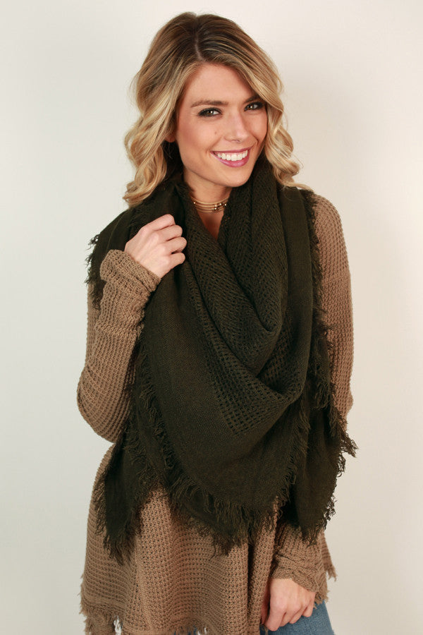 So Happy Together Blanket Scarf in Forest