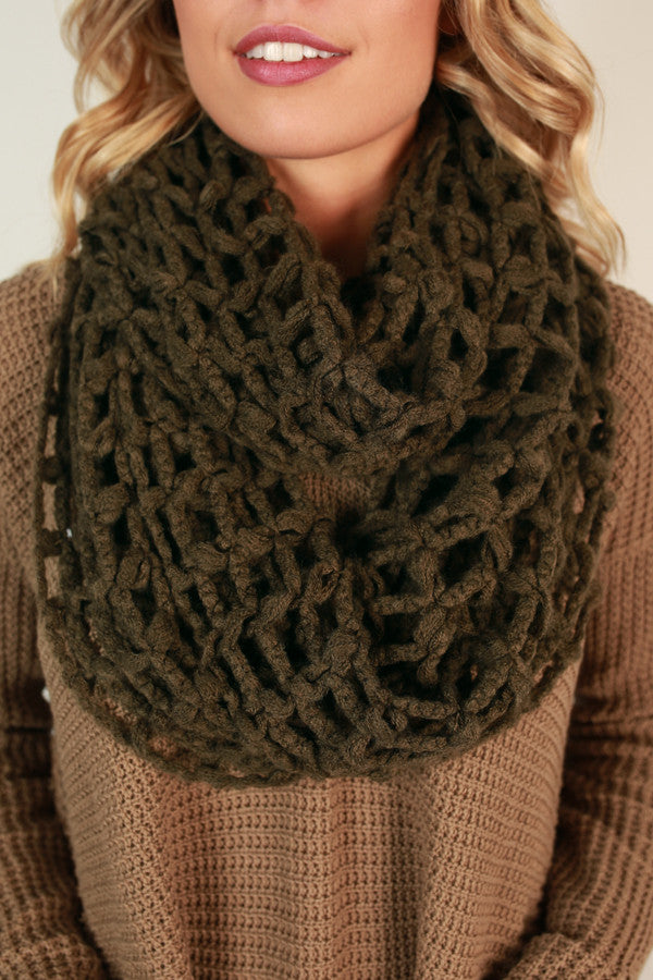 Forever and Always Infinity Scarf in Deep Forest