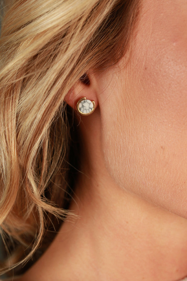 Moonlight Mood Stud Earrings