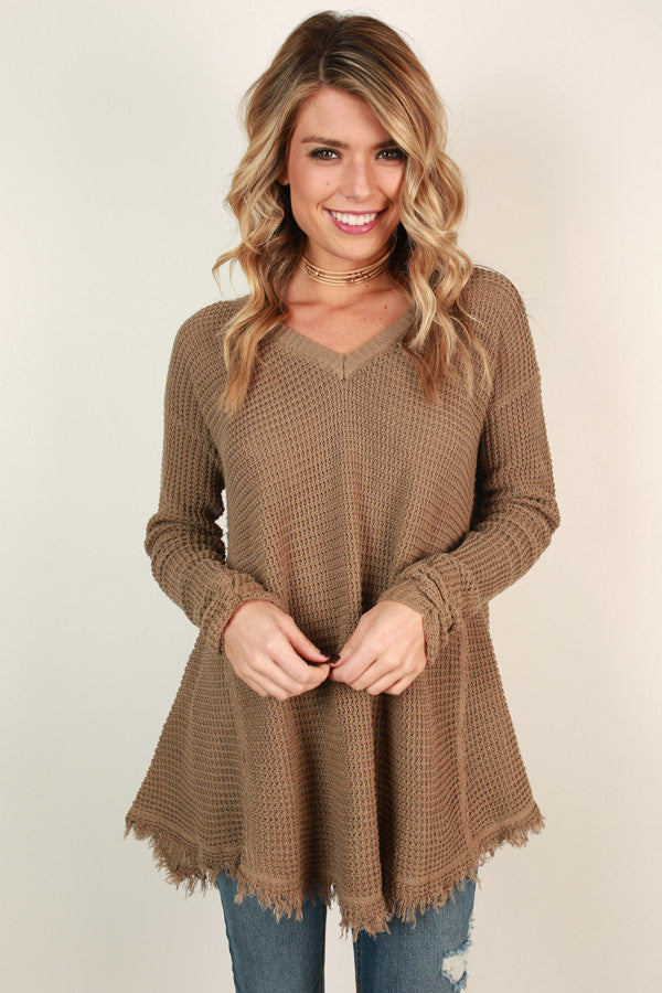 Make You Smile Sweater Mocha