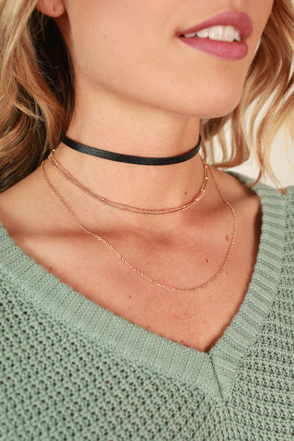 Layer Of Love Choker Necklace