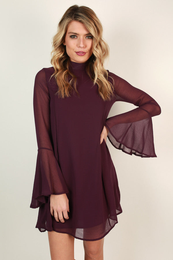 Martini Moment Shift Dress In Purple