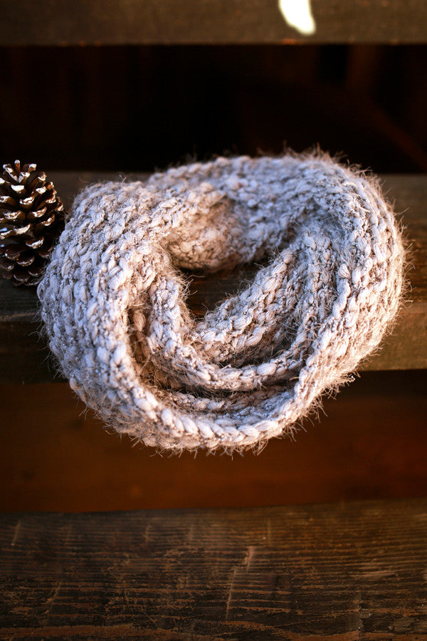 Cozy Up Cutie Infinity Scarf in Grey