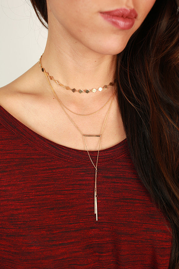 Stay Golden Layered Choker Necklace