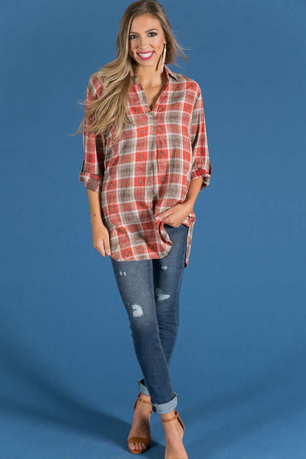 Cabin Cutie Plaid Tunic