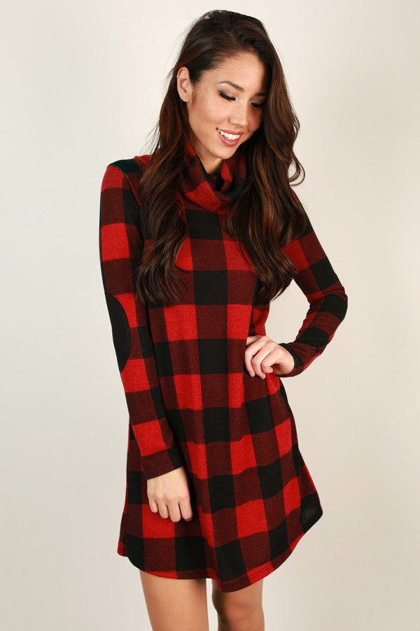 Turn On The Charm Plaid Dress