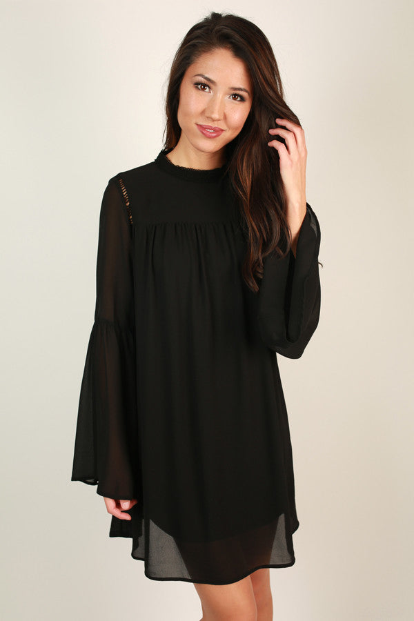 All The Fun Shift Dress in Black