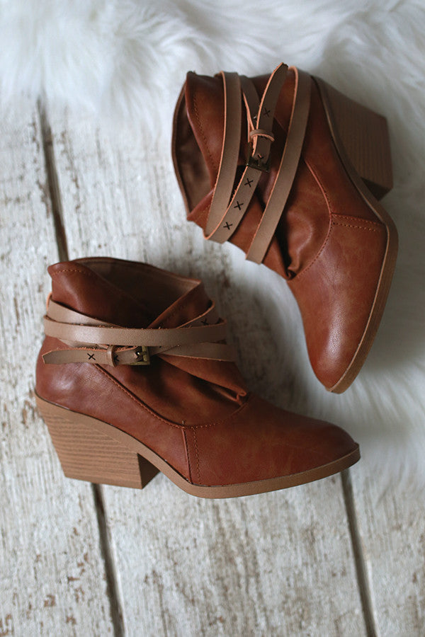 Xoxo Bootie In Camel
