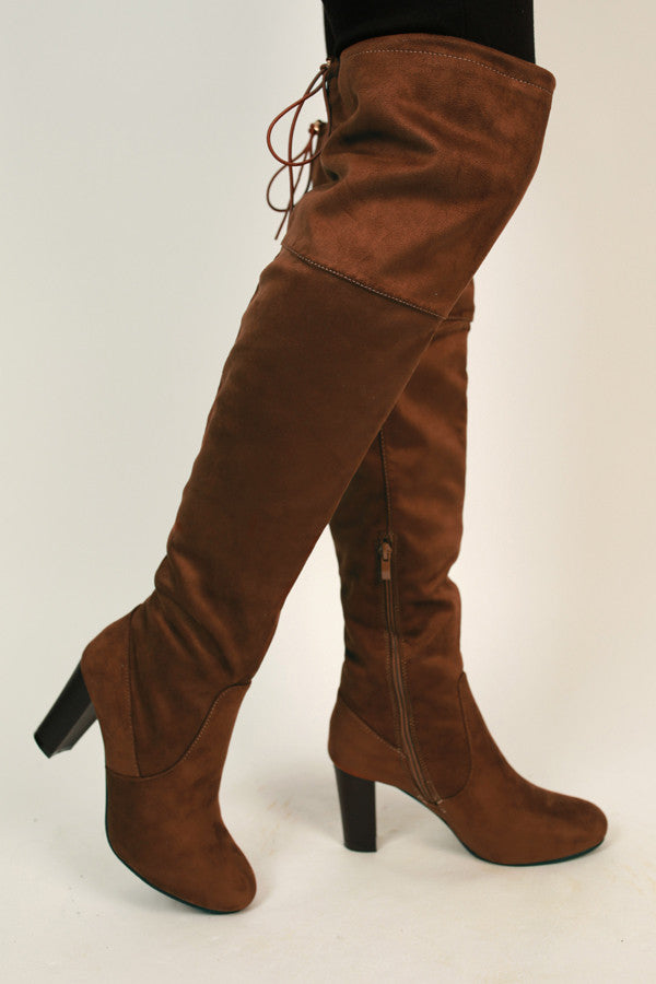 Kendall Thigh High Boot In Chocolate