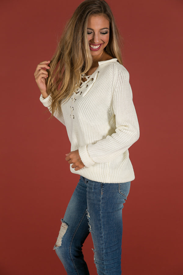 Easy Like Sunday Morning Sweater In Ivory