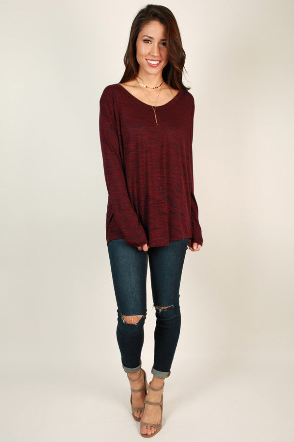Piko Space Dye Tee In Wine