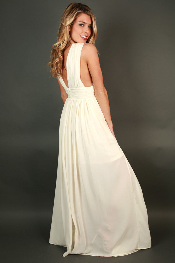 Soiree Ready Maxi Dress in Ivory