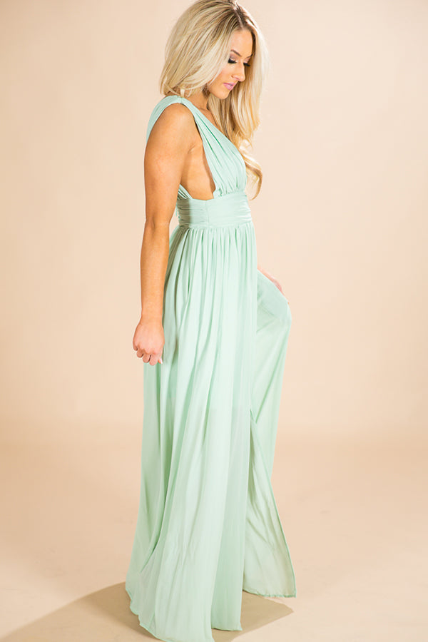 Soiree Ready Maxi Dress in Mint
