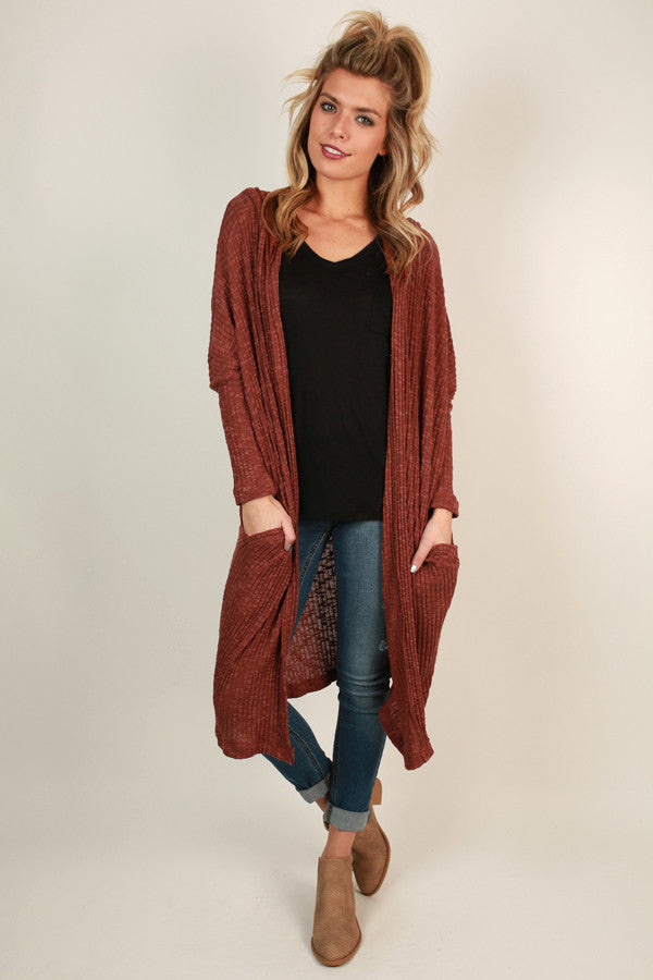 Saturday Snuggles Cardigan in Cinnamon