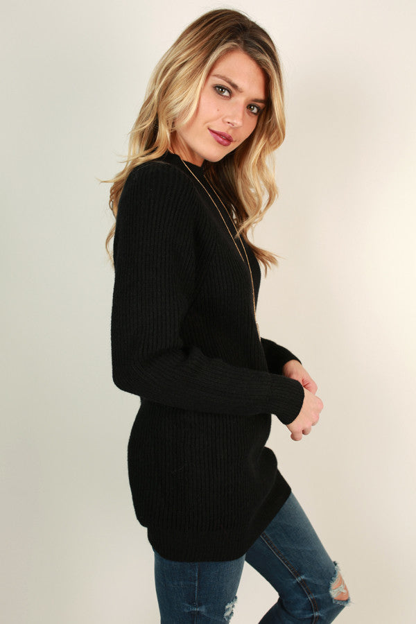 Hello Lovely Tunic Sweater in Black
