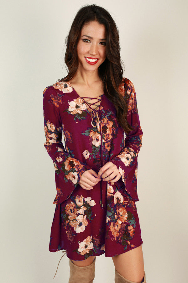 Floral Dreaming Lace Up Dress
