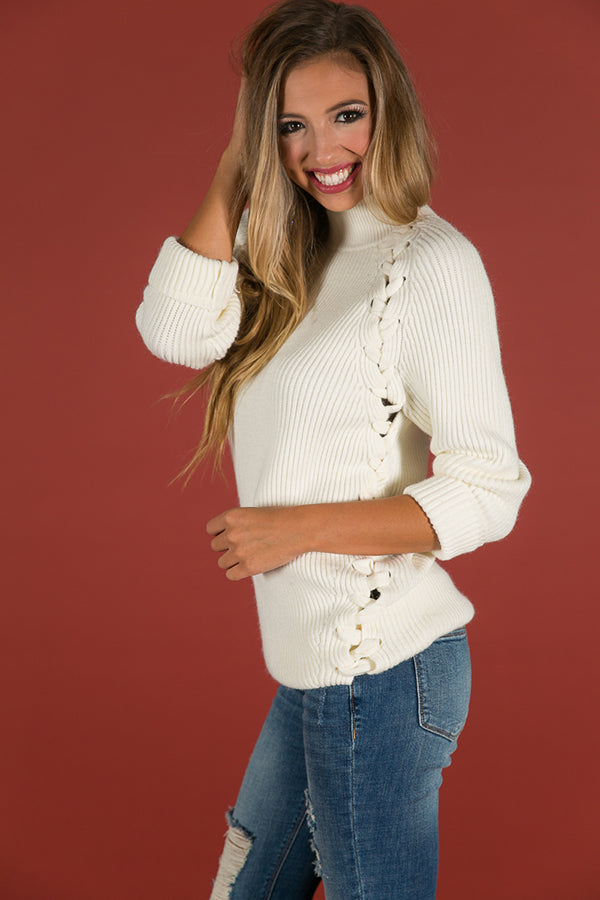Hello Lovely Tunic Sweater in Ivory
