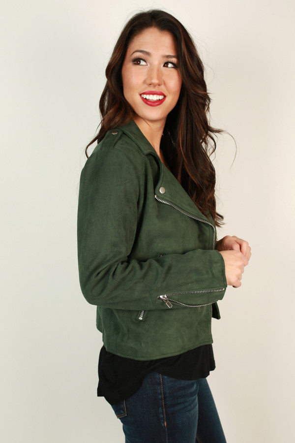 Downtown Love Faux Suede Jacket