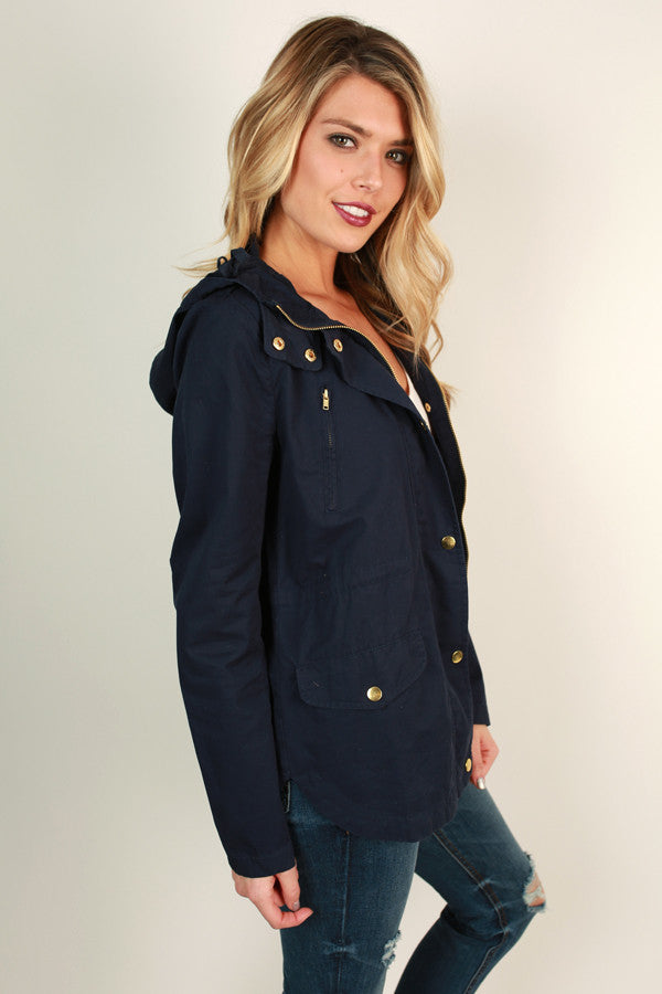 Cape Cod Crush Jacket in Navy