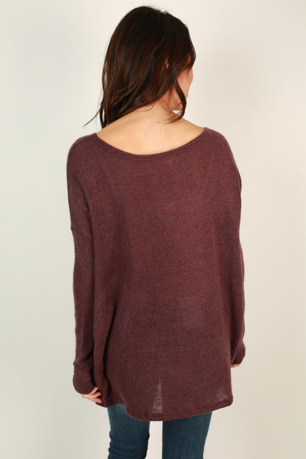 Piko Sweater in Royal Plum