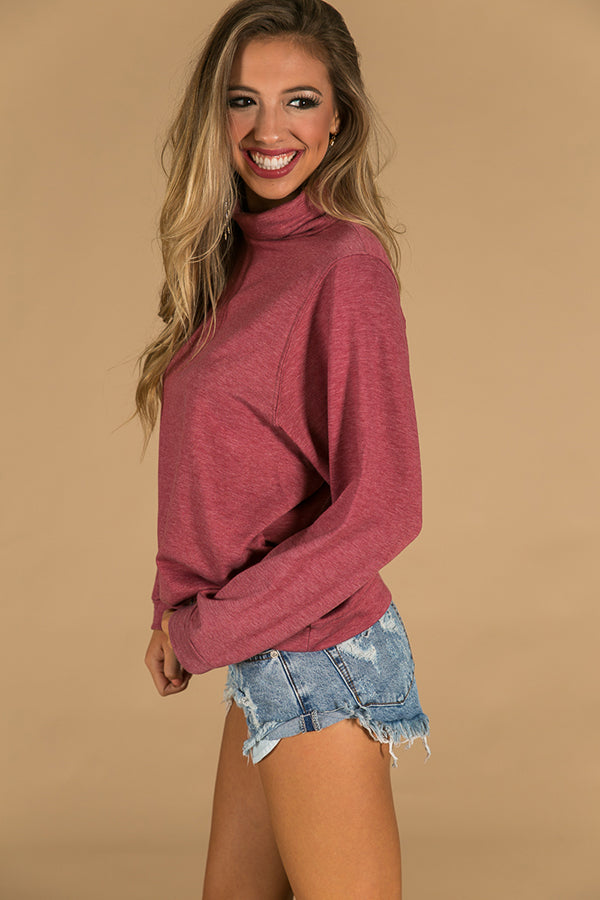 Cozy Feelings Sweater in Red
