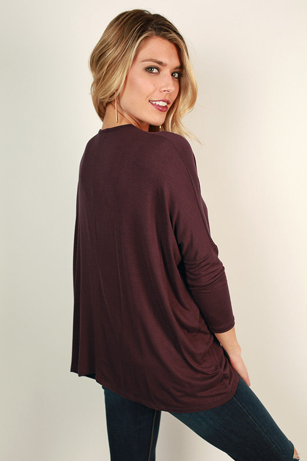 Gonna Love You Cut Out Top in Maroon